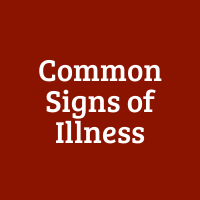 Common Signs of Illness